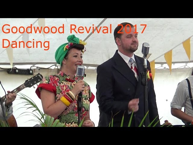 Goodwood Revival 2017 Dancing in the Richmond Lawn Marquee.  Jiving and Swinging to 1940s Music