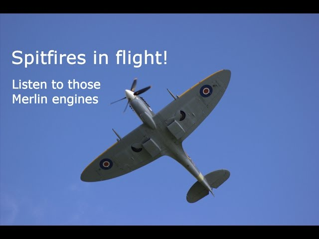 Spitfires in Flight – Listen to those Merlin Engines Roar! Supermarine Aircraft, Formation Flying