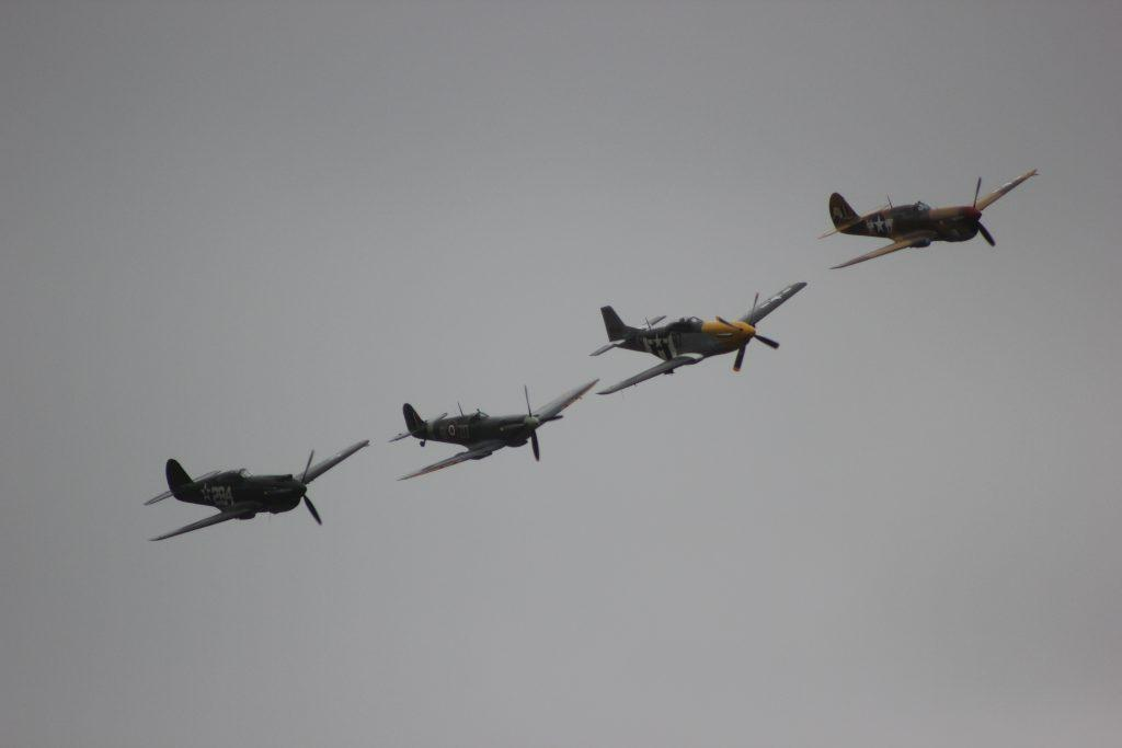 Four aircraft in formation