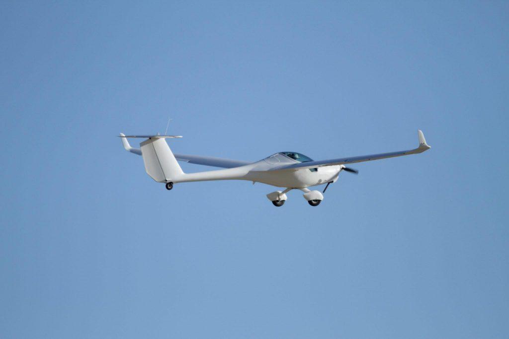 Ultralight power glider taking off