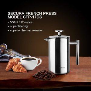 Secura French Press Model SFP-17DS Coffee Maker