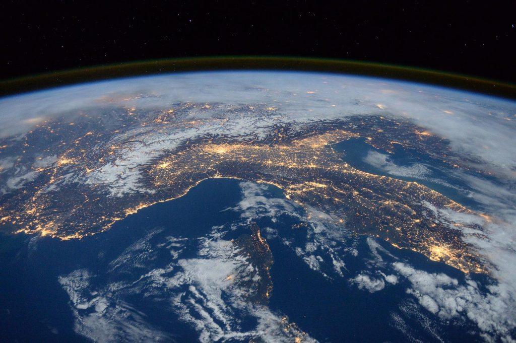 Earth from low orbit