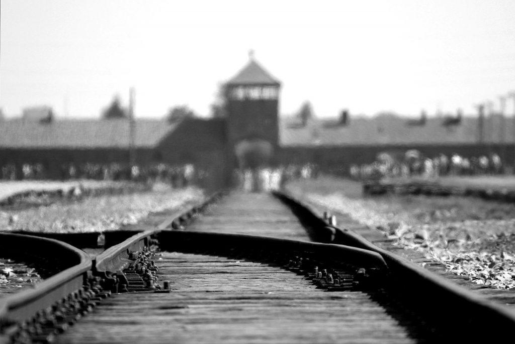 Railway line into Auschwitz