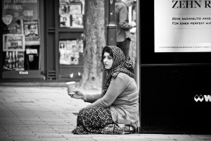 Roma woman homeless